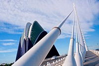 Agora Building and Assut d'or Bridge, City of Arts and Sciences, Valencia Comunity, Valencia, Spain, Europe
