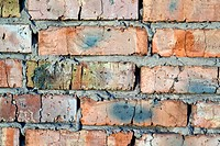 Old wall from a red brick. A texture