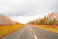 a country road in Nothern Kazakhstan