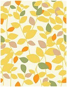 Vector seamless pattern displaying leaves branches.
