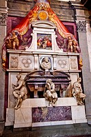 Michelangelo Tomb Bust Statues Painting Basilica Santa Croce Cathedral Florence ItalyResubmit__In response to comments from reviewer have further proc...