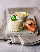 Celeriac salad with remoulade, smoked fish and lemons