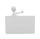 3d man with blank credit card