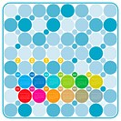 Colorful Calendar for year 2010 in a circles theme. in vector format.