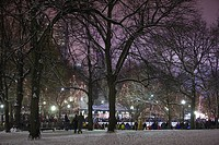 People at an ice rink on new years eve, Frog Pond, Boston Common, Boston, Suffolk County, Massachusetts, USA