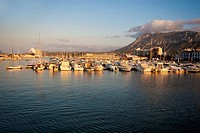 Afternoon in the port in Denia, Alicante, Spain