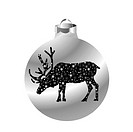 Christmas ball with reindeer