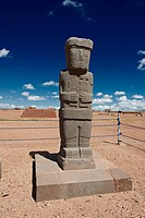 Statue Ponce, Kalasasaya temple, Tiawanacu, Tiahuanaco, La Paz, Bolivia, South America