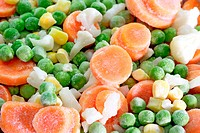 Close up of frozen vegetables