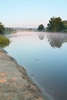 Morning mist on the river.