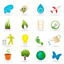Clean environment related icon set. Image contains gradient mesh.