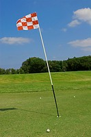 flag on the golf couse