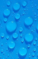 blue water drops close up