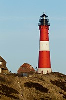 Lighthouse, Hoernum, Sylt, Schleswig_Holstein, Germany, Europe