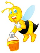 Isolated illustration Worker bee