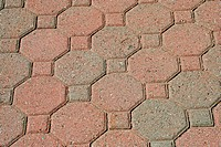 A Brick pavers background texture