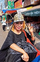 Transvestite with fashion cap, Hanoi, Vietnam