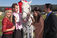 Meeting a horse at the races