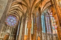 Interior of St. Nazaire and St Celse Cathedral located at Carcassonne, France