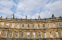 Architectural Detail of Luxury Town Houses in Bath England