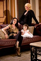 Portrait of multi_generation family at home in living room