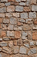 Old Tan Stone Background with mixed size stone