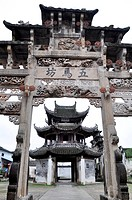 Landmarks of Chinese ancient Memorial Archway