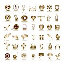 special metallic icons collection