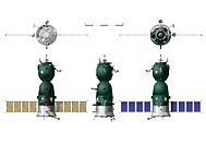 Vector hi_detailed spaceship Soyuz TMA. Available eps_10 vector format separated by groups for easy edit. Warning! Used gradient mesh on frontal proje...