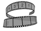 3d Film Strip. White background. Digitally Generated.