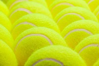 Macro Set of Brand New Tennis Balls.