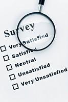 Survey and questionnaire, business concept