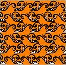 Black pattern on an orange background. Seamless vector pattern.