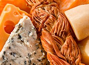 Mix dairy product cheese closeup background