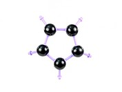 A molecule structure isolated against a white background