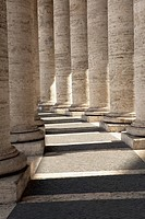 Detail view of the columns of St Peter´s Square, Rome, Italy