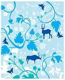 floral texture pattern design background.
