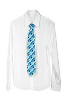 Man´s shirt with a tie on a white background