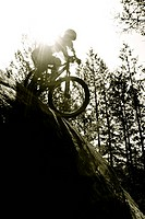 moutain biking extreme riding in British Columbia.