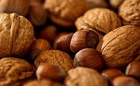 A close up of various types of nuts