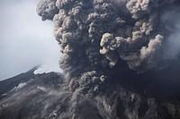 Sakurajima eruption, Kagoshima, Japan.