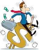 A business man cartoon