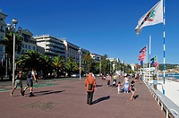 Promenade des Anglais, Nice, Nizza, Cote d'Azur, Alpes Maritimes, Provence, France, Europe