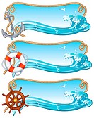 Vector illustration _ sailing banners