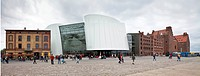 Ozeaneum building, a natural history museum with a focus on the sea, designed by the architects Elke Reichel and Peter Schlaier, Behnisch architects f...