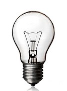 Light bulb isolated white background, clipping path