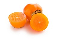 photo shot of cut persimmon fruit