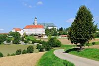 Benedictine Abbey Abtei Neresheim, Neresheim, Baden-Wuerttemberg, Germany, Europe
