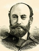 Vice_Admiral Sir George Strong Nares, 1831 _ 1915, Commander of the Challenger Expedition from 1872 to 1874, historical illustration, 1865