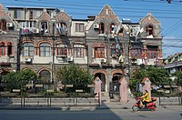 Old Shikumen-style buildings in Hongkou, Shanghai, China, Asia